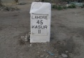Old Milestone on the way to indo-pak border